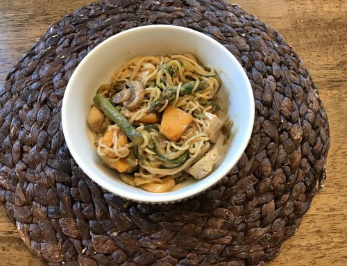 Zucchini Noodles with Almond Butter Sauce